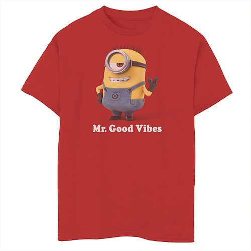 Boys 8-20 Despicable Me Minions Mr. Good Vibes Graphic Tee