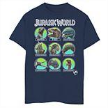 Boys 8-20 Jurassic World Dino Identification & Names Graphic Tee