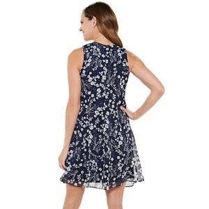 Women's Chaps Sleeveless Floral Print Shift Dress