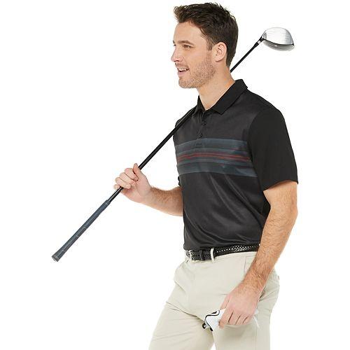 Men's Tek Gear® Regular Fit Striped Golf Polo