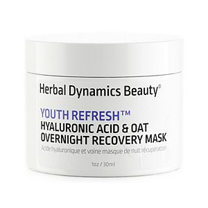 Herbal Dynamics Beauty Youth Refresh® Hyaluronic Acid & Oat Overnight Recovery Mask