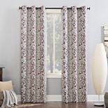 Sun Zero Theresa Foliage Print Theater Grade Extreme 100% Blackout Grommet Curtain Panel