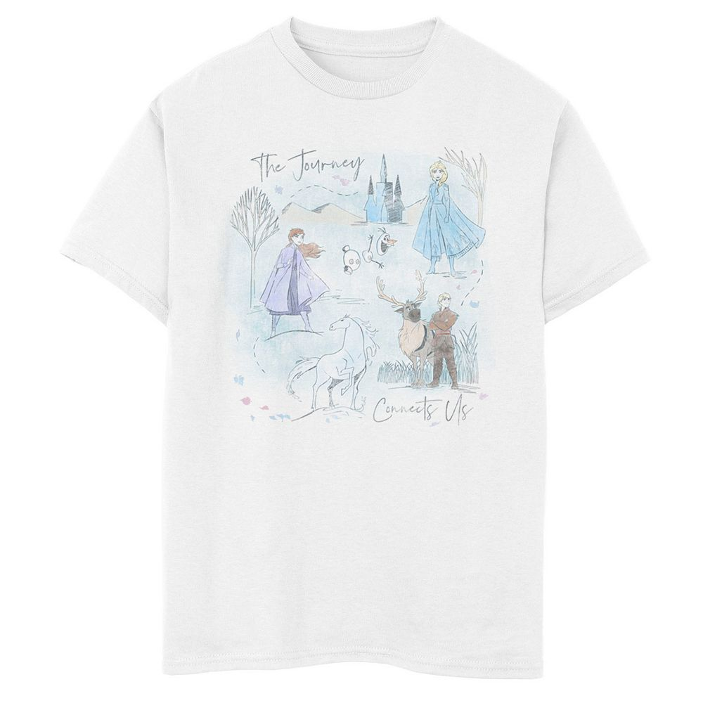 Disney's Frozen 2 Boys 8-20 Sketched Watercolor Poster Graphic Tee