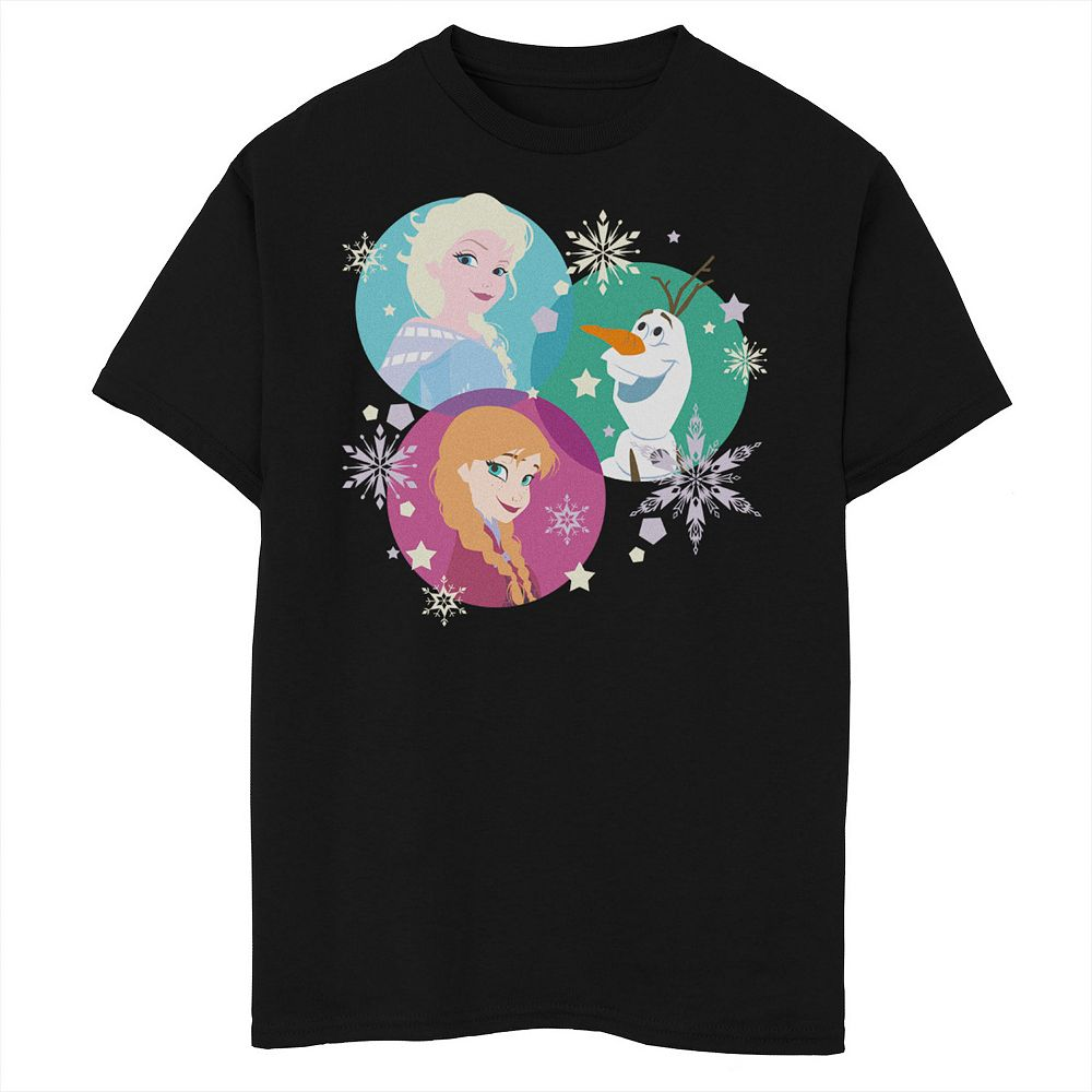Disney's Frozen 2 Boys 8-20 Elsa Ana Olaf Color Spheres Graphic Tee
