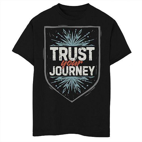 Disney's Frozen 2 Boys 8-20 Trust Your Journey Crest Graphic Tee