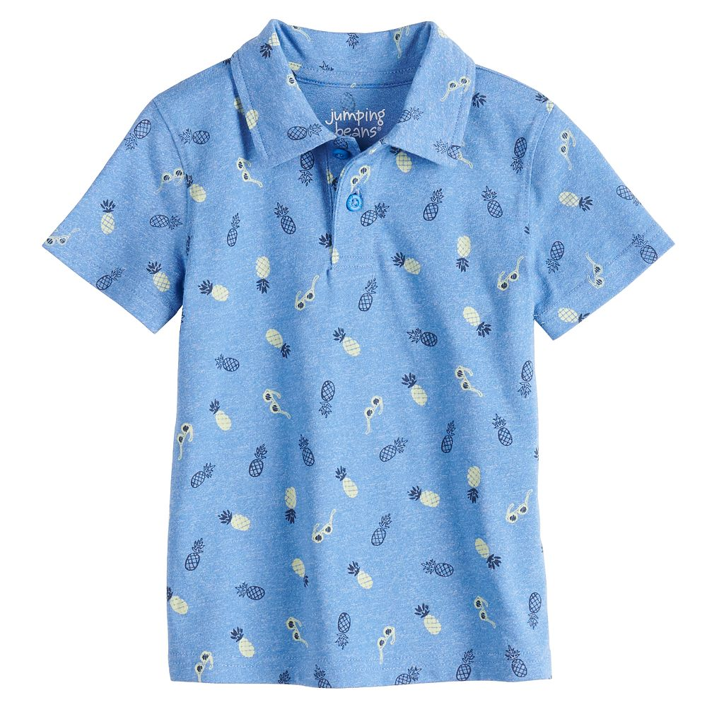 Toddler Boy Jumping Beans® Pineapple Polo