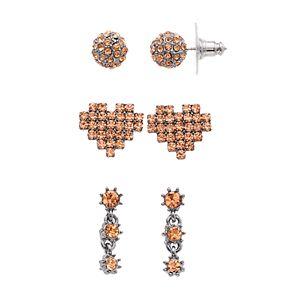 Simply Vera Vera Wang 3-pair Heart Earrings