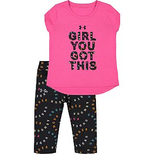 Baby Girls Under Armour Girl You Got This Capri Set