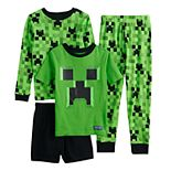 Boys 6-12 Minecraft Tops & Bottoms Pajama Set