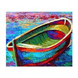 Trademark Fine Art 'Boat 9' Wood Slat Art