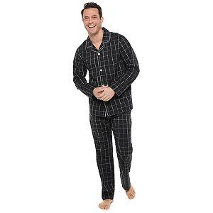 Men's Croft & Barrow® Woven Notch Collar Pajama Set
