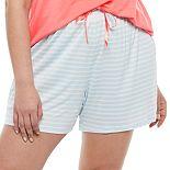 Plus Size Croft & Barrow® Sleep Shorts