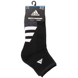 Men's adidas Cushioned II 3-pack Quarter Socks
