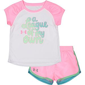 Baby Girls Under Armour A League Of My Own Short Set