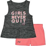 Baby Girl Under Armour Girls Never Quit Tank And Short Set