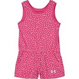 Baby Girl Under Armour Dot Icon Romper