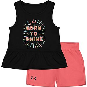Baby Girl Under Armour Born To Shine Tank And Short Set