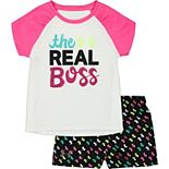 Baby Girl Under Armour The Real Boss Tee And Short Set