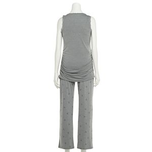 Maternity a:glow? Lace Trim Tank & Pants Pajama Set