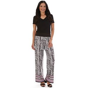 Women's Apt. 9® Double Border Print Palazzo Pants