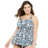 Plus Size EVRI? Square Neck Tankini Swim Top