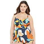 Plus Size EVRI? Twist Front Tankini Swim Top