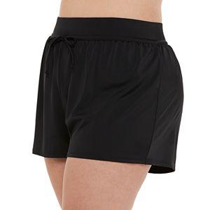 Plus Size EVRI Tie-Front Swim Shorts