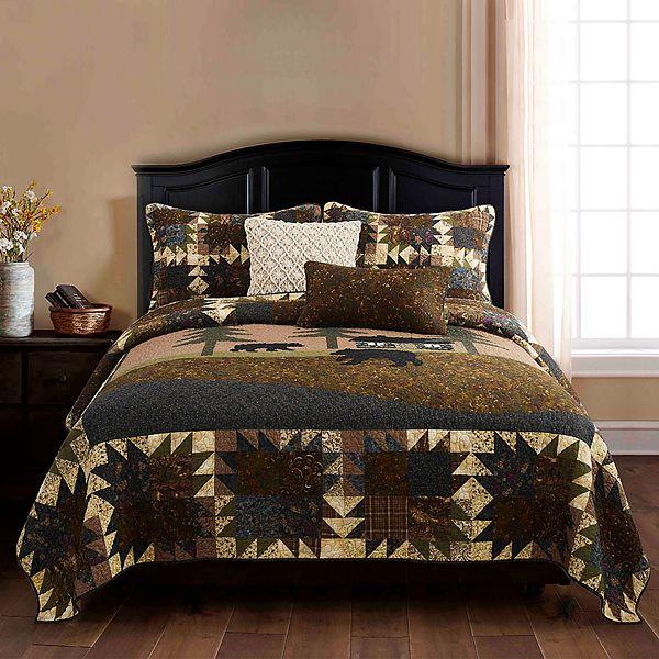 Donna Sharp Mountain Lodge Quilt Or Sham, Mountain Lodge Bedding