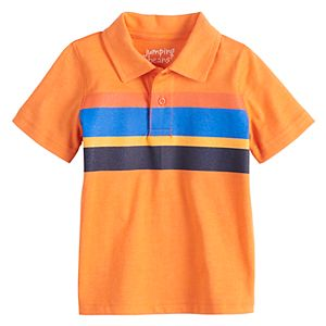 Baby Boy Jumping Beans® Striped Colorblock Polo