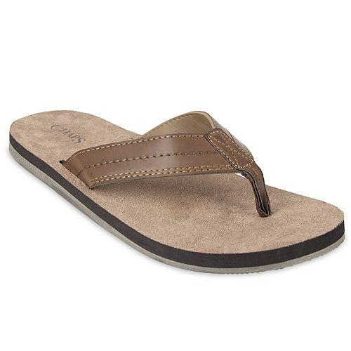 Men's Chaps Thong Soft Footbed Flip-Flops