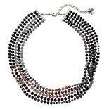 Simply Vera Vera Wang Beaded Multi Row Necklace