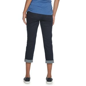 Maternity a:glow Cuffed Full Belly Panel Crop Jeans