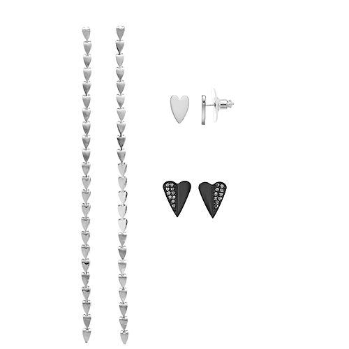 Simply Vera Vera Wang Post Heart Earrings Trio Set