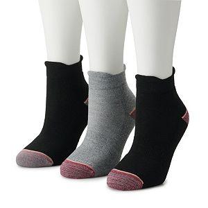 Women's Dr. Scholl's 2-pack Walking Fitness Double Tab Ankle Socks