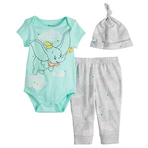 Disney's Dumbo Baby Bodysuit, Pants & Hat Set by Jumping Beans®