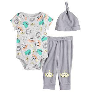 Disney / Pixar Toy Story Baby Boy Bodysuit, Pants & Hat Set by Jumping Beans