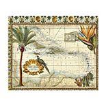 Trademark Fine Art Tropical Map Of West Indies Wood Slat Wall Art