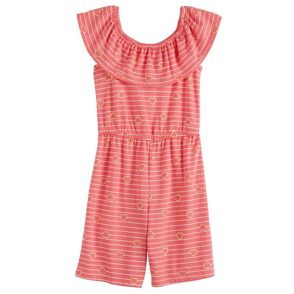 Toddler Girl Jumping Beans® Ruffle Neck Jumpsuit