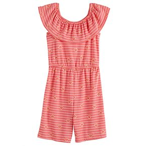 Toddler Girl Jumping Beans® Ruffle Neck Jumpsuit