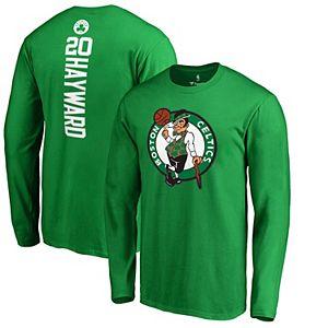Men's Fanatics Branded Gordon Hayward Kelly Green Boston Celtics Backer Name & Number Long Sleeve T-Shirt