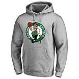 Men's Fanatics Branded Heather Gray Boston Celtics Primary Logo Pullover Hoodie