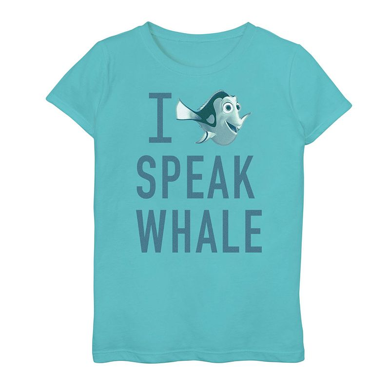 Girls 7-16 Disney/Pixar's Finding Dory  I Speak Whale  Tee, Girl's, Size: Small, Blue