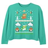 Girls 6-16 Nintendo Super Mario Goomba Ugly Christmas Sweater Top