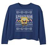 Girls 6-16 Nickelodeon SpongeBob SquarePants Dancing Ugly Christmas Top