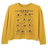 Disney's Mickey Mouse Girls 7-16 Kung Fu Pose Scroll Graphic Tee