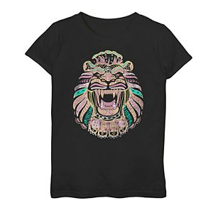 Girls 7-16 Disney's Aladdin Live Action Cave Of Wonders Lion Graphic Tee