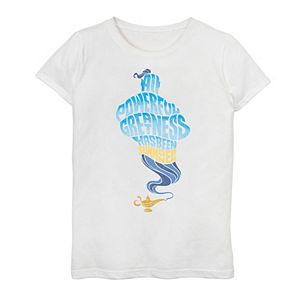 """Disney's Aladdin Girls 7-16 Genie """"All Powerful Greatness"""" Graphic Tee"""