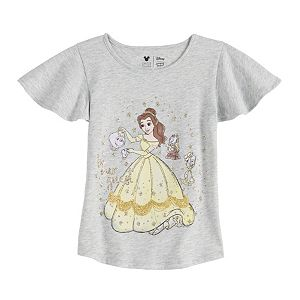 Disney Character Girls 4-12 Flutter Sleeve Tee by Jumping Beans®
