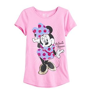 Disney Girls 4-12 Shirttail Graphic Tee by Jumping Beans®
