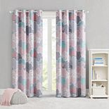 Urban Habitat Kids 1-panel Bliss Printed Cotton Grommet Top Total Blackout Window Curtain